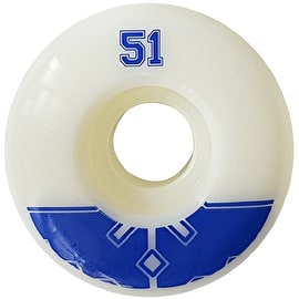 Fracture Uni Pro 100a Skateboard Wheels - Blue 51mm