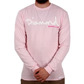 Diamond Supply Co OG Script Longsleeve T-Shirt - Pink