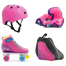 SFR Vision II Quad Roller Skates Bundle - Tropical