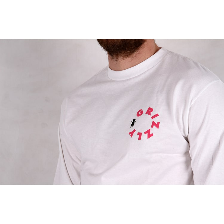 Grizzly Pipeline Long Sleeve T shirt - White