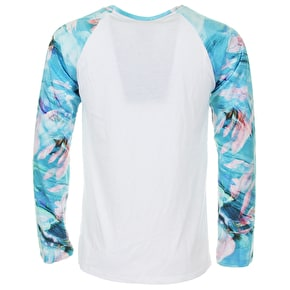 Hype Cyan Jungle Raglan T-Shirt