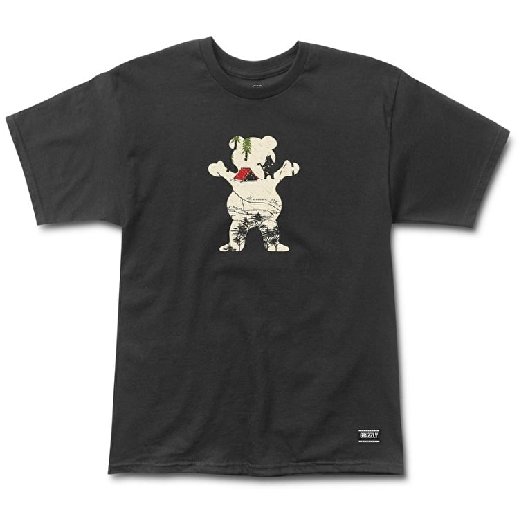 Grizzly Trail Map OG Bear T-Shirt - Black