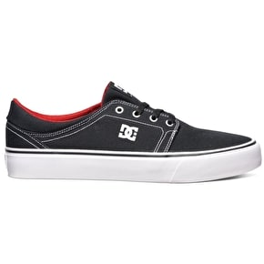DC Trase TX Shoes - Black/White/Red