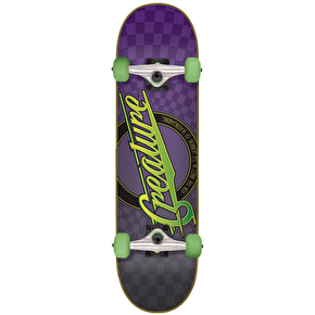 Creature Horror City Complete Skateboard - Purple 7.9