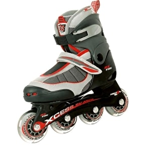 B-Stock Xcess MX S1000 Semi Soft Adjustable Inline Skates - Red - Large (UK 3 - UK 5)