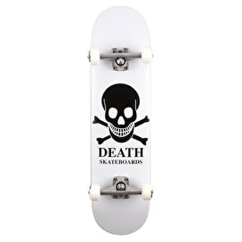 Death OG Skull Custom Skateboard - White