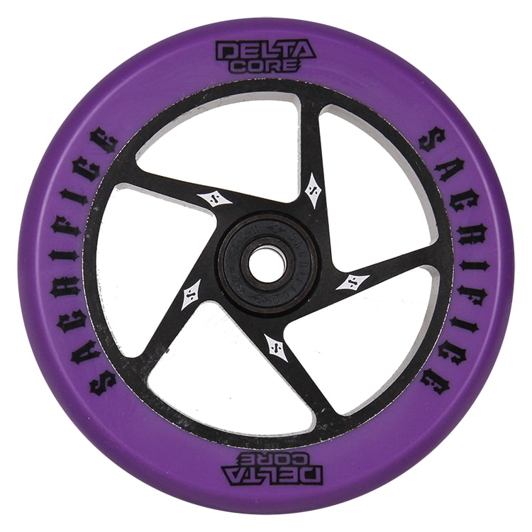 Sacrifice Delta Core 110mm Scooter Wheel w/Bearings - Purple/Black