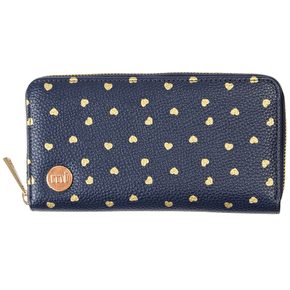 Mi-Pac Zip Purse - Hearts Navy/Gold