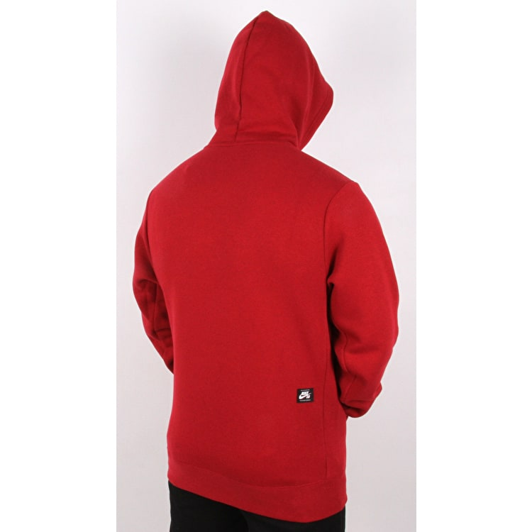 Nike SB Icon Hoodie - Red Crush/White