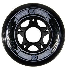 Ground Control 80mm 85A Inline Skate Wheels - Black