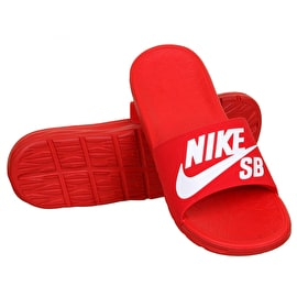 Nike SB Benassi Solarsoft Flip-Flops - University Red/White