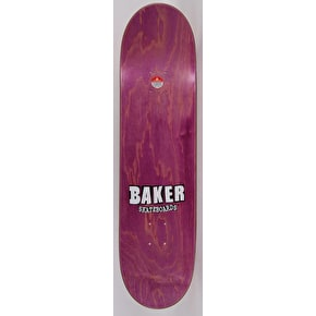 Baker Brand Logo Skateboard Deck - Red/White 8.25