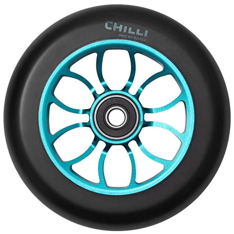 Chilli Pro Reaper 110mm Scooter Wheel w/Bearings - Black/Blue