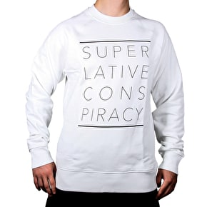 WeSC Marvin Printed Crewneck - White