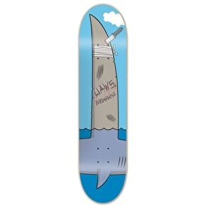 Birdhouse Jaws Skateboard Deck - Blue 8.25