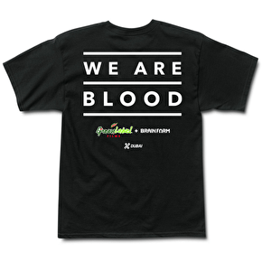 Grizzly Griptape x We are Blood T-Shirt - Black