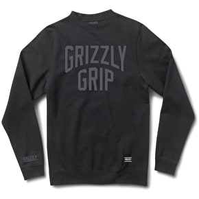 Grizzly Big City Crewneck Sweater - Black