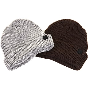 Kr3w Gunner Beanie - Grey Heather/Olive