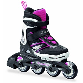 Rollerblade Kids Adjustable Inline Skates - Spitfire Black/Pink
