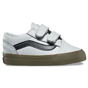 Vans Old Skool V Toddler Skate Shoes - (Bleacher) Grey/Black/Gum