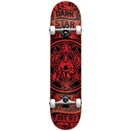 Darkstar Civil First Push Complete Skateboard - Red 7.625