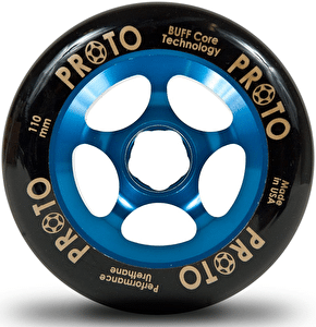 Proto 110mm Gripper Wheel - Black on Blue