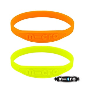 Micro Neon Wrist Bands - Orange/Yellow