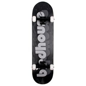 Birdhouse 3D Logo Custom Skateboard - Black/White - 8