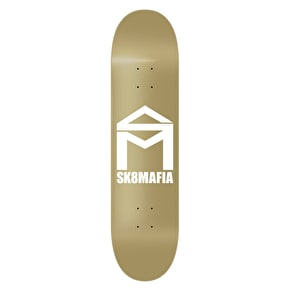 SK8 Mafia Skateboard Deck - House Logo Gold 8