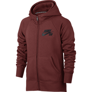 Nike SB Icon Kids Hoodie - Dark Cayenne/Anthracite