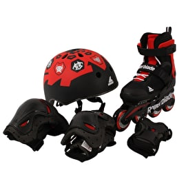 Rollerblade Microblade Cube Adjustable Roller Blades - Black/Red
