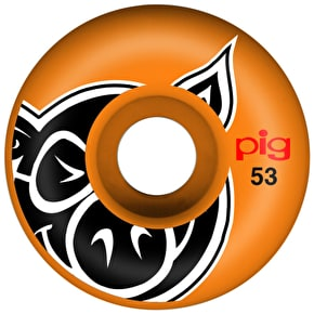 Pig Skateboard Wheels - Pig Head Orange 53mm (Pack of 4)