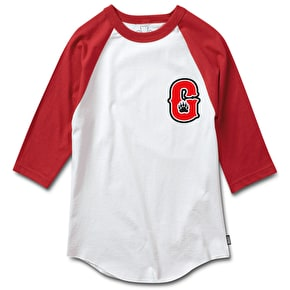 Grizzly G Track Raglan - Red/White
