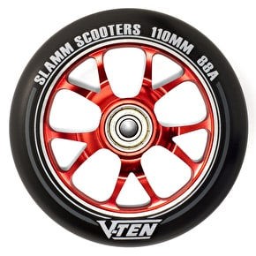 Slamm 110mm V-Ten II Aluminium Core Scooter Wheel - Black/Red