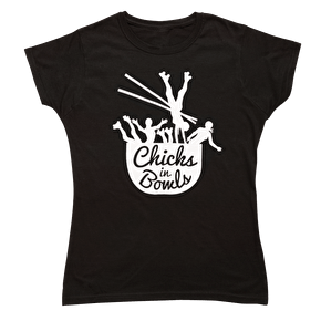 Chicks in Bowls Classic Logo Tee- Black