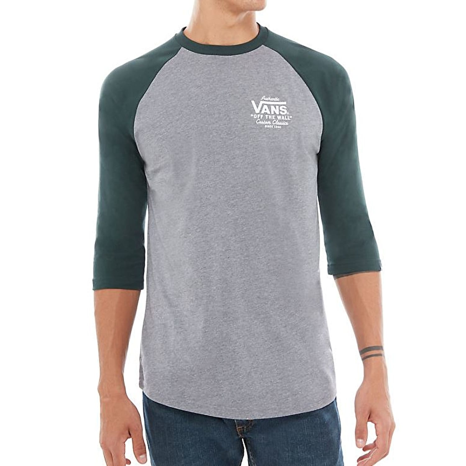 aa1af13efc Vans Holder St Raglan T-Shirt - Heather Grey Vans Scarab