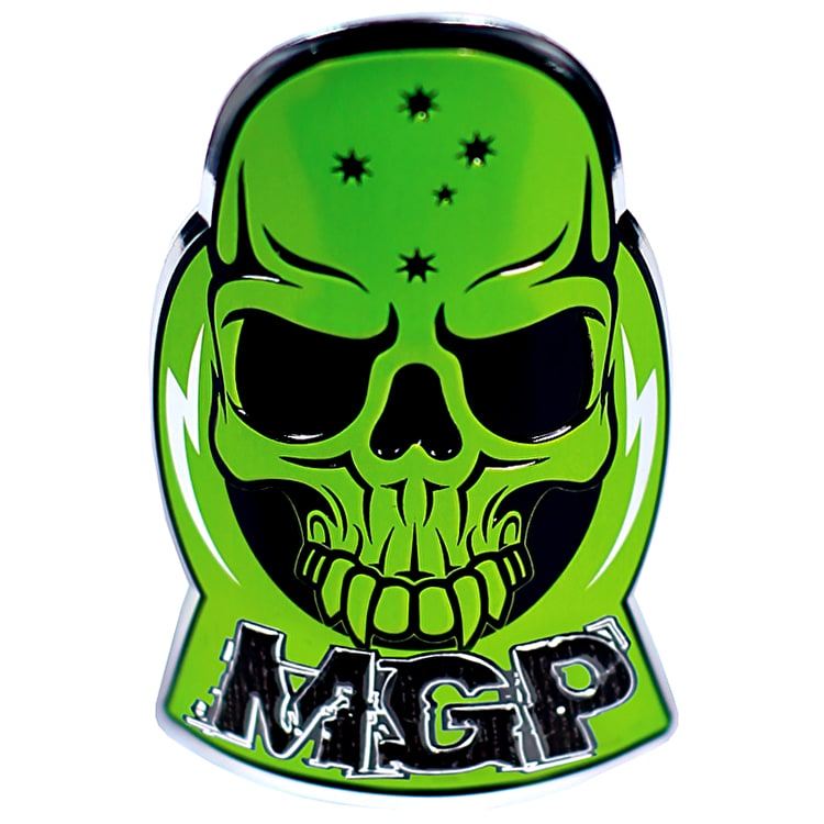 Mgp Alloy Headtube Decal - Green