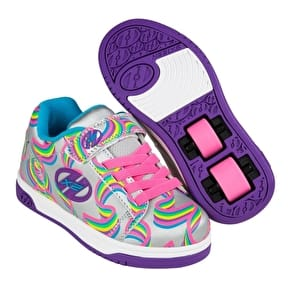Heelys Dual Up - Silver/Purple/Rainbow