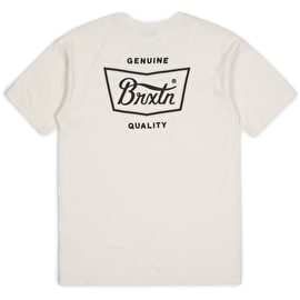Brixton Stith Standard T-Shirt - Off White/Black