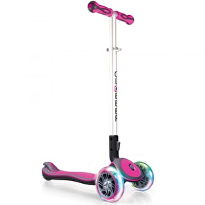 Globber Elite Lights Complete Scooter - Deep Pink