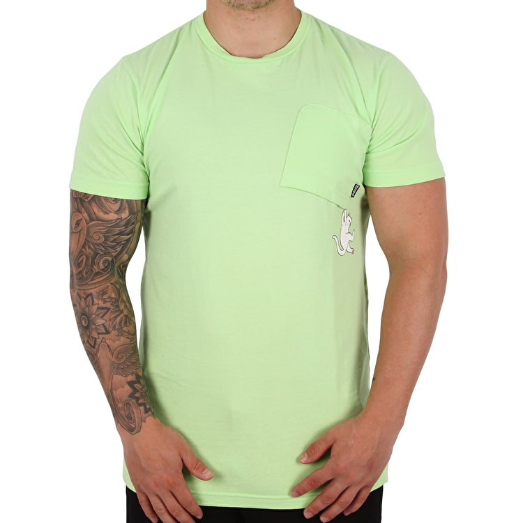 RIPNDIP Hang In There T shirt - Lime