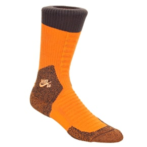 Nike SB Elite Crew Socks - Clay Orange/Baroque Brown