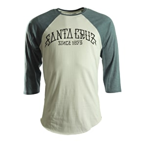 Santa Cruz T-Shirt - Arch Baseball Carbon Denim/White