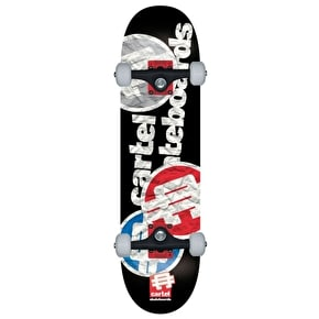 Cartel Papercut Complete Skateboard - Patriot 8