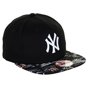 New Era Offshore Visor New York Yankees Cap - Black/Black
