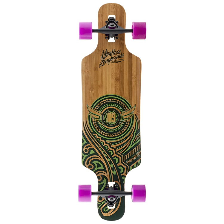 "Mindless Raven II 34"" Longboard - Natural/Green"