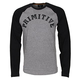 Primitive Ivy League Raglan - Grey Heather