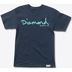 Diamond OG Script T-Shirt - Navy