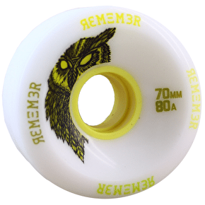 Remember Hoot 70mm Longboard Wheels - White