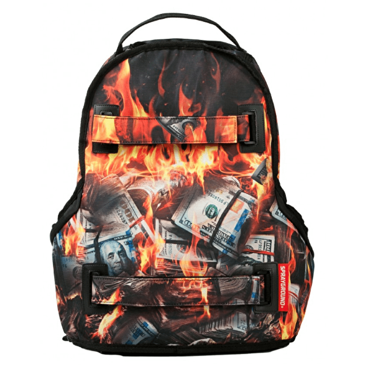 Sprayground Fire Money Skate Backpack